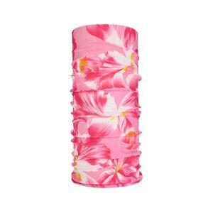 JS One (6. Flower Pink, 25cm x 50cm) Seamless Multi-Use Bandana Face Cycling Biker Snoo