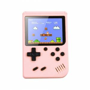 Unbranded (Pink) Built-in 500 Classic Games Handheld Retro Funny Video Game Console Kids G