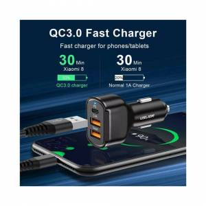 ERANPO Dual USB PD Type-C Car Charger 30W Fast Charge Adapter For iPhone 12 11 Pro Max
