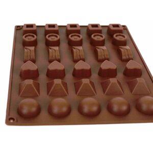 Sixstore 30 Slot Chocolate Box Mould Tray Non Stick Silicone Round Square Heart