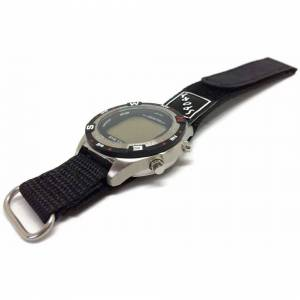 Cousins (16mm) Velcro Watch Strap Black with Stainless Steel Ring and Sport Badge 14mm t