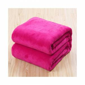 Unbranded (Rose Red, 70*100cm) Faux Fur Mink Throw Soft Fleece Blankets Sofa Warm Quilt Be