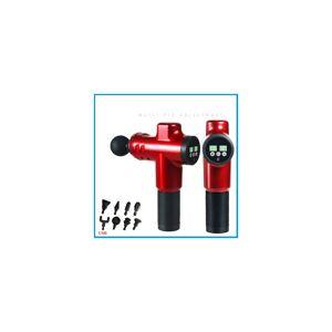 Unbranded (Black) 20 Speed LCD 8 Adaptor Mini Massage Gun USB Rechargeable Electric Massag