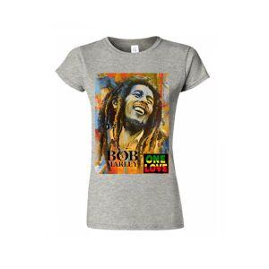 Gildan (Large, Grey) Bob Marley One Love Jamaican ReggaeWomen Tee M793