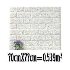 Slowmoose (White-B, 20Pcs) 3d Brick Wall Sticker ( Set 4)