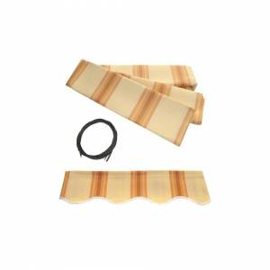 Aleko FAB20X10MSTYEL315-UNB 20 x 10 ft. Fabric Replacement for Retractable Awnin