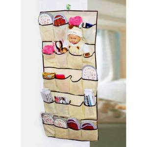 Lenova 20 Pockets Over Door Cloth Shoe Organizer Hanging Hanger Closet Space Storage