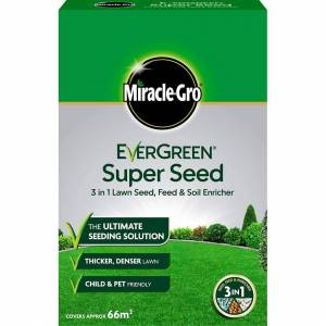Miracle-Gro Evergreen Super Seed 3 in 1 Lawn Seed 66m2 Coverage 2kg