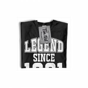 Tim And Ted (XL, Navy Blue) Mens 40th Birthday T Shirt Legend Since 1981 Slogan Forty Tee