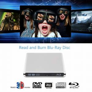 Athlete External Blu Ray DVD Drive Burner 4k Portable USB 3.0 CD DVD RW Player