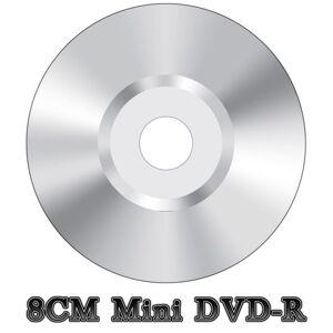 CA Media Replication (2) Blank Mini 8CM DVD-R Video Camera Camcorder Disc Silver (4x 30min 1.4GB)