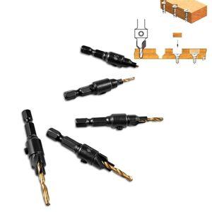 Slowmoose (type 3) Countersink Woodworking Drill Bit Set