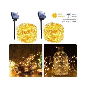 Slowmoose (solar light 7m/warm white) Solar String Light 10m/20m 100,LED Silver-wire Fairy