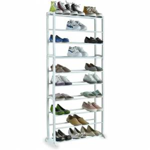 MantraRaj 10 Tiers Adjustable Shoe Storage Shoe Rack Organiser Shelf Hold Stand for 30 Pai