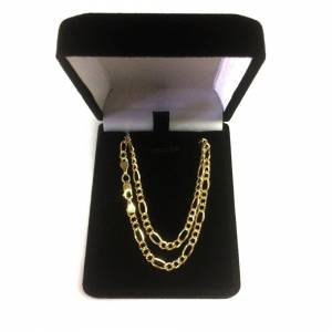 Jewelry Affairs (20, Yellow) 14K Yellow Gold Filled Solid Figaro Chain Necklace, 3.2 mm Wide