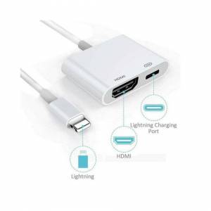 Unbranded Apple iPhone iPad 5 6 7 8 Plus X Lightning to HDMI Digital AV Adapter Cable