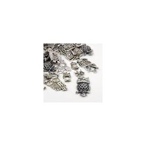 Beadz Galore 30g x Tibetan Mixed Antique Silver Beads Charms Pendants - Antique Silver Colour