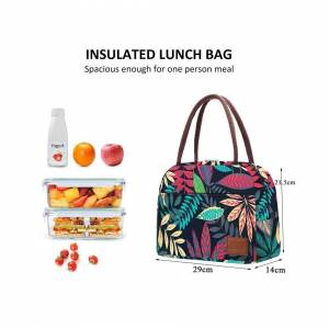 HGO Fashion Portable Cooler Lunch Bag Print Thermal Insulated Tote Bags Large Picnic