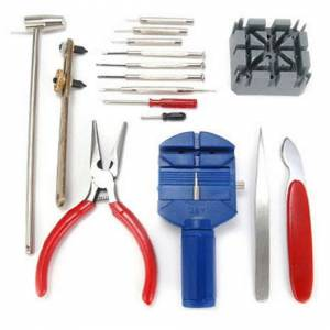 ACENIX High Quality 16 Piece Watch Repair Tool Kit Set Pin & Back Remover - UK SELLER