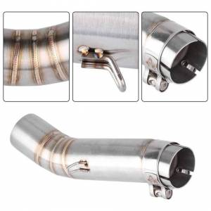 Unbranded Motorcycle Stainless Steel Exhaust Middle Pipe Link Connect For Honda CBR500R 20