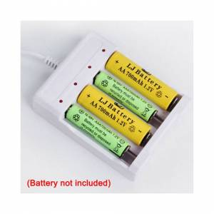Unbranded USB 4 Slot Battery Charger Fast Charging AA AAA Rechargeable NiMH Ni-Cd Battery