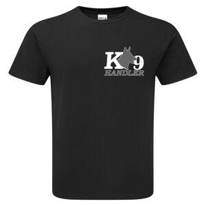 T-shirts4u (Black, L) Security K9 Canine Dog Handler T-Shirt F&B Print