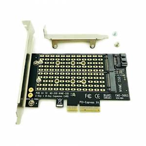 Unbranded M.2 NGFF PC Computer SATA Dual SSD PCI PCIe x4 x8 x16 NVMe Express Adapter Card