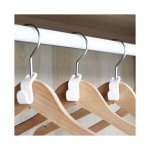 Slowmoose (18pcs) Plastic Magic Extension, Space Saving Coat Hook, Closet Hanger Rack Exte