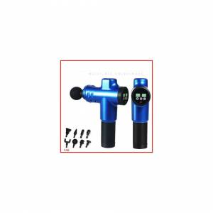 Unbranded (Blue) 20 Speed LCD 8 Adaptor Mini Massage Gun USB Rechargeable Electric Massage