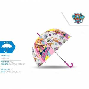 KIDS LICENSING (Paw Patrol in Pink Dome) Kids POE Brolly Licenced Characters Printed Umbrella f