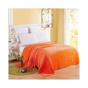 Unbranded (Orange, 70*100cm) Warm Soft Large Polar Fleece Throw Blanket Sofa Bed Room Trav