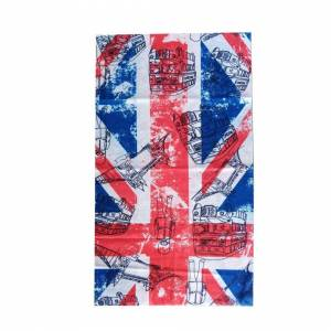 JS One (17. British Flag, 25cm x 50cm) Seamless Multi-Use Bandana Face Cycling Biker Sn