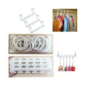 Unbranded Space Saving Multi Function Clothes Hanger Magic Hook Closet Organizer Plastic