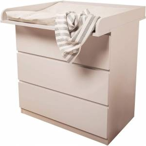 Kidsaw Changing Board for IKEA Malm, White, of