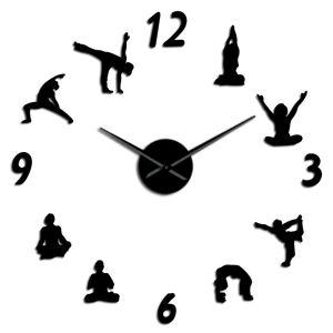 fancylife (black, 47 inch) Yoga Living Room DIY Wall Clock
