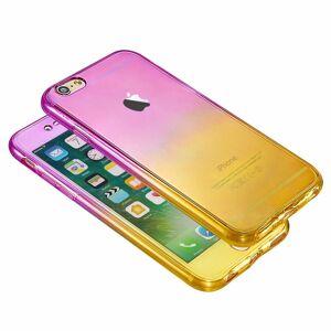 FinestBazaar (Purple/Yellow, For Apple iPhone 8) Hybrid 360° New Shockproof Case TPU Gel Skin