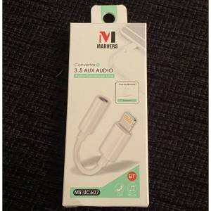 Marvers Lightning to Aux Male Jack 3.5mm Audio Adapter Cable For iPhone 11 / 11 Pro / 11
