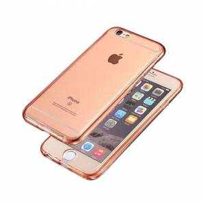 FinestBazaar (Rose Gold, For Apple iPhone 6s) Hybrid 360° New Shockproof Case TPU Gel Skin Co