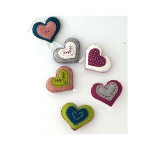 Corinne Lapierre Felt Vintage Heart Garland Sewing Craft Kit
