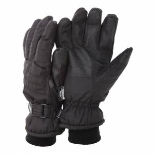Floso (L/XL, Black (As Shown)) FLOSO Mens Thinsulate Padded Thermal Gloves With Palm G