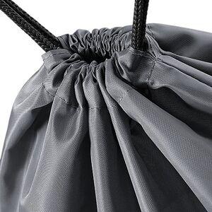 BagBase (One Size, Black) BagBase Budget Water Resistant Sports Gymsac Drawstring Bag (1