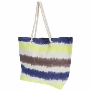 Floso (One Size, Yellow/Navy/Brown/Blue) FLOSO Womens/Ladies Faded Stripe Design Canva