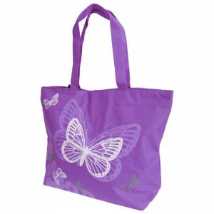 Floso (One Size, Purple) FLOSO Womens/Ladies Floral Butterfly Design Handbag