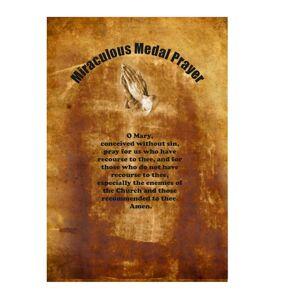 Unbranded Miraculous Medal Prayerd Olive Wood Cross Christian Hand MadeIn Bethlehem