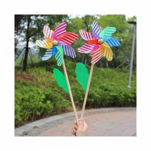 Slowmoose (As Seen on Image) Beautiful High-Quality 24cm Wood Garden Yard Party Windmill W