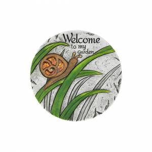 Summerfield Terrace 10018543 Welcome To My Garden Stepping Stone, Cement