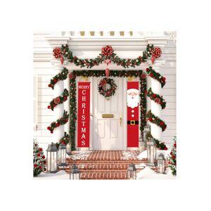 Unbranded (5) Merry Christmas Santa Party hanging Banner Garden Banners Xmas Door Decorati