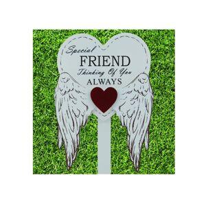 Global Designs Special Friend Grave Stick Graveside Memorial Angel WIngs