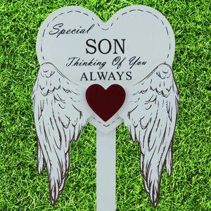 Global Designs Special Son Grave Stick Graveside Memorial Angel WIngs