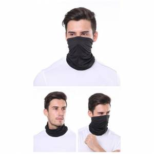 JS One (Black, 25cm x 50cm) Unisex Multi Use Bandana Face Cycling Biker Outdoor Snood N